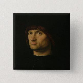 Porträtt av en man eller condottieren, 1475 (den o standard kanpp fyrkantig 5.1 cm