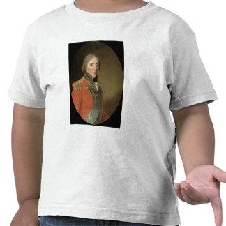 Porträtt av en man olja på kanfas t-shirt