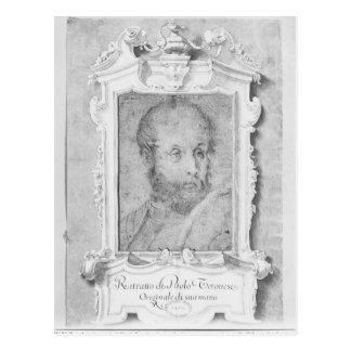 Porträtt av en man som antas för att vara Veronese Vykort