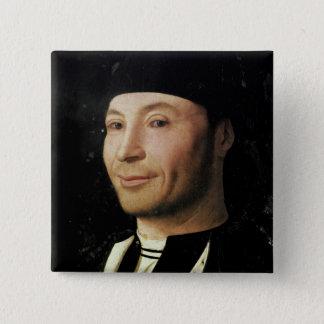 Porträtt av en okänd man standard kanpp fyrkantig 5.1 cm