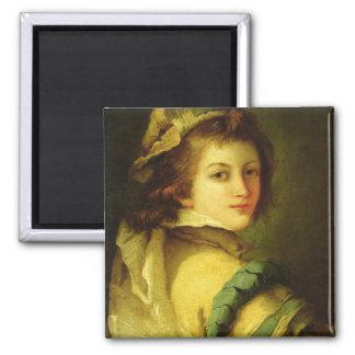 Porträtt av en sida, 1762-70 (olja på kanfas) magnet