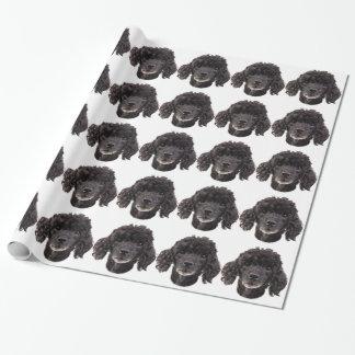 Porträtt av en svart pudel presentpapper