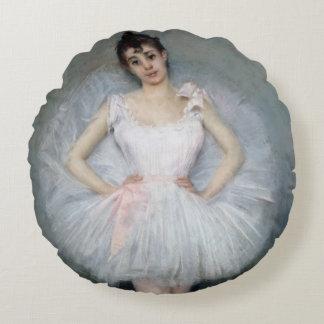 Porträtt av en ung Ballerina Rund Kudde