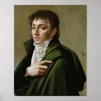 Porträtt av Etienne-Henri Mehul 1799 Poster
