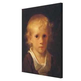 Porträtt av ett barn canvastryck