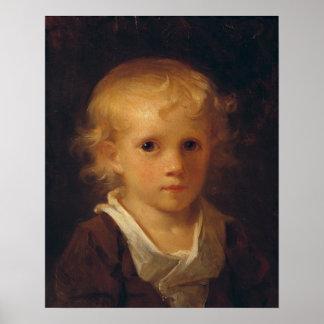 Porträtt av ett barn poster