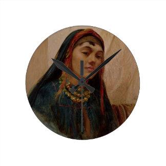 Porträtt av ett mittet - östlig flicka, c.1859 (ol klocka