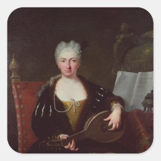Porträtt av Faustina Bordoni, Handels sångare Fyrkantigt Klistermärke