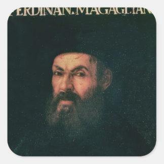 Porträtt av Ferdinand Magellan Fyrkantigt Klistermärke