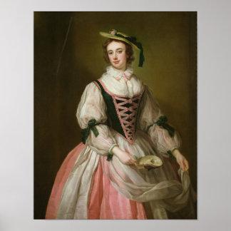 Porträtt av Frances Macartney, c.1745 Poster