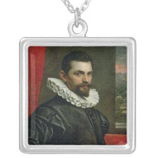 Porträtt av Francesco Bassano Silverpläterat Halsband
