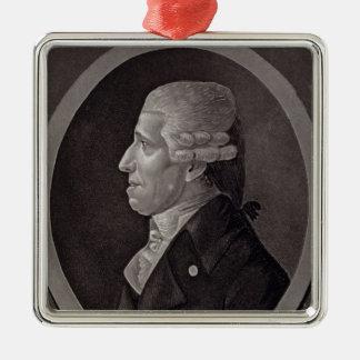 Porträtt av Franz Joseph Haydn Julgransprydnad Metall
