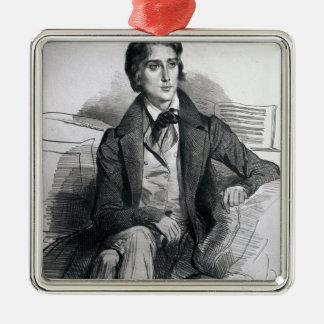 Porträtt av Franz Liszt Augusti 1832 Julgransprydnad Metall