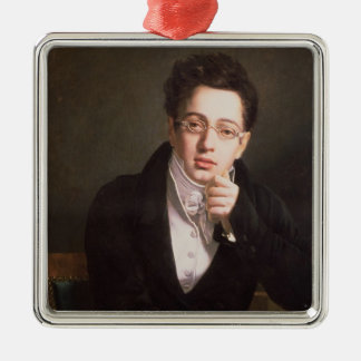 Porträtt av Franz Schubert, österrikisk kompositör Julgransprydnad Metall