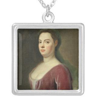 Porträtt av Frau Denner Silverpläterat Halsband