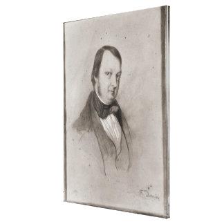 Porträtt av Frederic Chopin Canvastryck