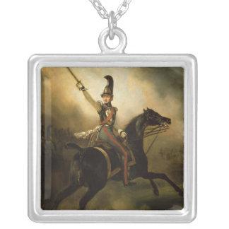 Porträtt av Friedrich Heinrich 1830 Silverpläterat Halsband