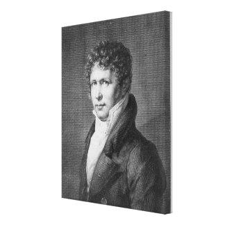 Porträtt av Friedrich Heinrich Alexander Canvastryck
