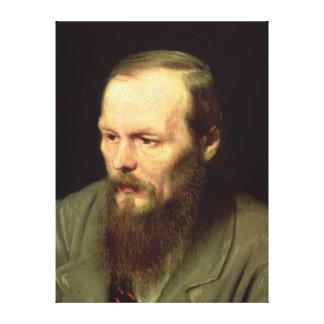 Porträtt av Fyodor Dostoyevsky 1872 Canvastryck
