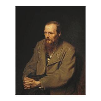 Porträtt av Fyodor Dostoyevsky av Vasily Perov Canvastryck