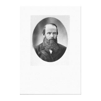 Porträtt av Fyodor Mikhailovich Dostoyevsky Canvastryck