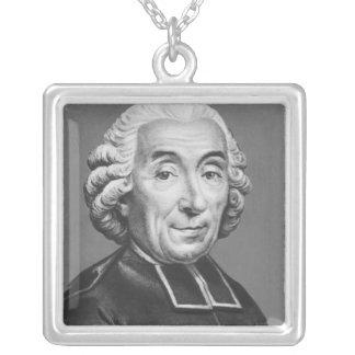 Porträtt av Gabriel Bonnot de Mably Silverpläterat Halsband