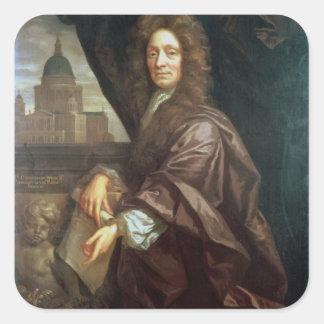 Porträtt av gärdsmygen för herr Christopher (olja Fyrkantigt Klistermärke