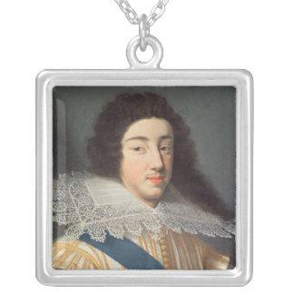 Porträtt av Gaston d'Orleans Silverpläterat Halsband