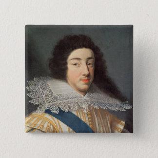 Porträtt av Gaston d'Orleans Standard Kanpp Fyrkantig 5.1 Cm