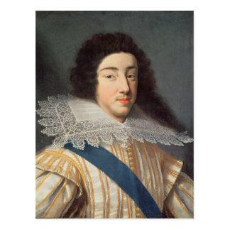 Porträtt av Gaston d'Orleans Vykort