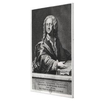 Porträtt av Georg Philipp Telemann Canvastryck