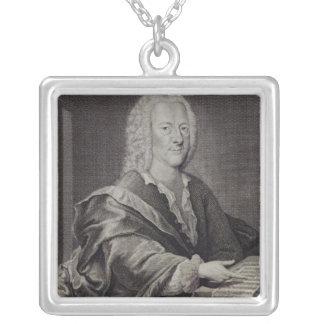 Porträtt av Georg Philipp Telemann Silverpläterat Halsband
