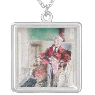 Porträtt av George Moore c.1920 Silverpläterat Halsband