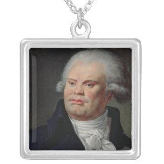 Porträtt av Georges Danton Silverpläterat Halsband