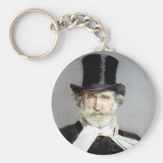 Porträtt av Giuseppe Verdi av Giovanni Boldini Rund Nyckelring