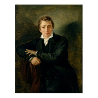 Porträtt av Heinrich Heine 1831 Vykort