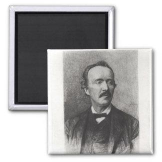Porträtt av Heinrich Schliemann Magnet