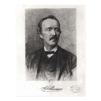Porträtt av Heinrich Schliemann Vykort