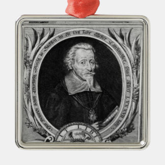 Porträtt av Heinrich Schutz Julgransprydnad Metall