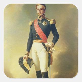 Porträtt av Henri-Eugene-Philippe-Louis Fyrkantigt Klistermärke