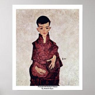 Porträtt av Herbert Rainer av Schiele Egon Poster