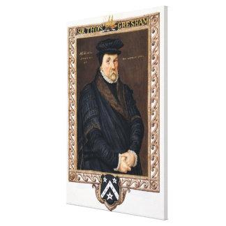 Porträtt av herr Thomas Gresham (c.1519-79) från ' Canvastryck