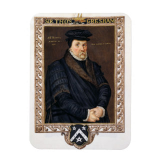 Porträtt av herr Thomas Gresham (c.1519-79) från ' Magnet