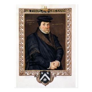 Porträtt av herr Thomas Gresham (c.1519-79) från Vykort