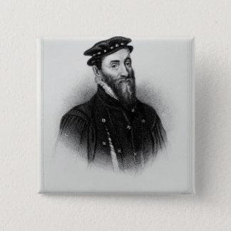 Porträtt av herr Thomas Gresham Standard Kanpp Fyrkantig 5.1 Cm