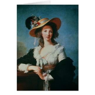 Porträtt av hertiginnan av Polignac Hälsningskort