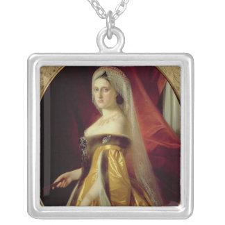 Porträtt av hertiginnan Maria Nikolaevna Silverpläterat Halsband