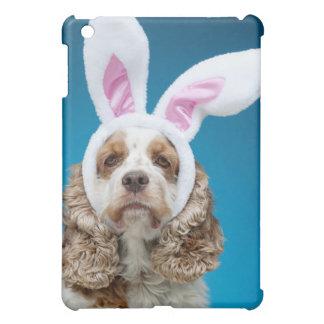 Porträtt av hunden som ha på sig påskhareöron iPad mini mobil skydd