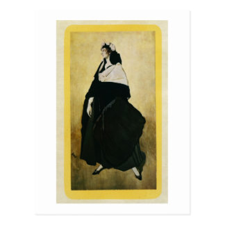 Porträtt av Ida Lvovna Rubinstein (c.1885-1960) (c Vykort