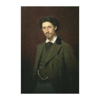 Porträtt av Ilya Efimovich Repin, 1876 Canvastryck